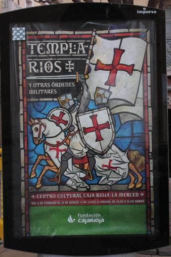 Cartel de la exposición Los templarios y otras órdenes militares